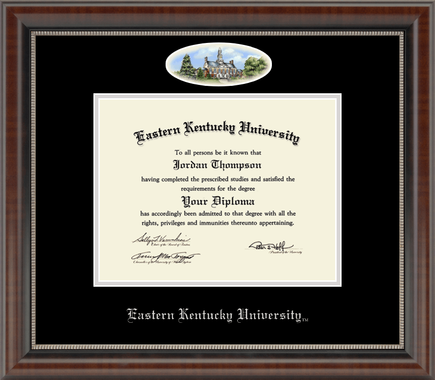 Eastern Kentucky University Campus Cameo Diploma Frame In