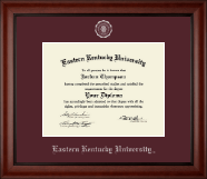Eastern Kentucky University Diploma Frame - Silver Embossed Diploma Frame in Cambridge