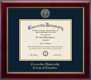 Concordia University Portland Diploma Frame - Gold Embossed Diploma Frame in Gallery