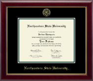 Northeastern State University Tahlequah Diploma Frame - Gold Embossed Diploma Frame in Gallery