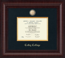 Colby College Diploma Frame - Presidential Masterpiece Diploma Frame in Premier
