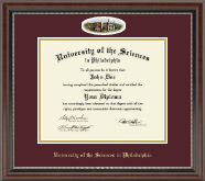 University of the Sciences in Philadelphia Diploma Frame - Campus Cameo Diploma Frame in Chateau