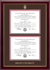 Brown University Diploma Frame - Double Diploma Frame in Gallery