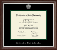 Masters - Silver Engraved Medallion Diploma Frame