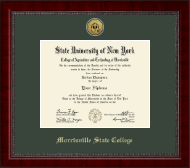 Morrisville State College Diploma Frame - Gold Engraved Medallion Diploma Frame in Sutton