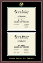 Missouri Southern State University Diploma Frame - Double Document Diploma Frame in Kensit Gold