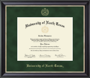 University of North Texas Diploma Frame - Gold Embossed Diploma Frame in Noir