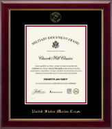 United States Marine Corps Certificate Frame - Gold Embossed Certificate Frame in Gallery