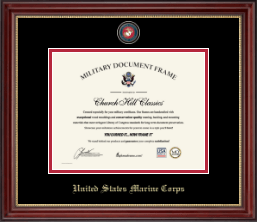 United States Marine Corps Certificate Frame - Masterpiece Medallion Certificate Frame in Kensington Gold