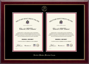 United States Marine Corps Certificate Frame - Double Document Certificate Frame in Gallery