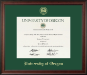 University of Oregon Diploma Frame - Gold Embossed Diploma Frame in Studio