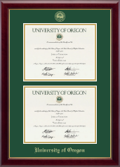University of Oregon Diploma Frame - Double Diploma Frame in Gallery