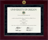 University of Oregon Diploma Frame - Millennium Gold Engraved Diploma Frame in Cordova