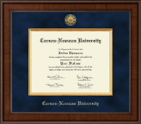 Carson-Newman University Diploma Frame - Presidential Gold Engraved Diploma Frame in Madison