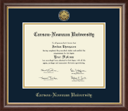 Carson-Newman University Diploma Frame - Gold Engraved Medallion Diploma Frame in Hampshire