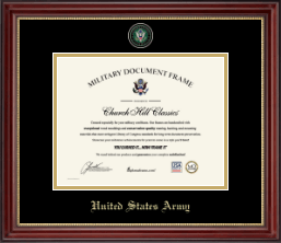 United States Army Certificate Frame - Masterpiece Medallion Certificate Frame in Kensington Gold