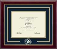Colorado State University Pueblo Diploma Frame - Spirit Medallion Diploma Frame in Gallery