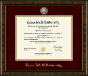 Texas A&M University Diploma Frame - Masterpiece Medallion Diploma Frame in Brentwood