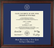 Purchase College Diploma Frame - Silver Embossed Diploma Frame in Studio
