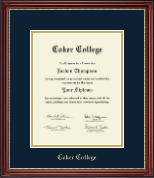 Coker College Diploma Frame - Gold Embossed Diploma Frame in Kensington Gold