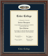 Coker College Diploma Frame - Campus Cameo Diploma Frame in Chateau