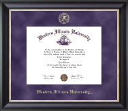 Western Illinois University Diploma Frame - Gold Embossed Diploma Frame in Noir