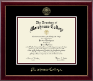 Morehouse College Diploma Frame - Gold Embossed Diploma Frame in Gallery