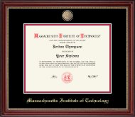 Massachusetts Institute of Technology Diploma Frame - Masterpiece Medallion Diploma Frame in Kensington Gold