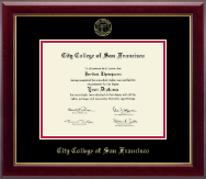 City College of San Francisco Diploma Frame - Gold Embossed Diploma Frame in Gallery
