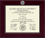 Eastern Michigan University Diploma Frame - Century Silver Engraved Diploma Frame in Cordova