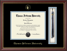 Thomas Jefferson University Diploma Frame - Tassel Edition Seal Embossed Diploma Frame in Newport