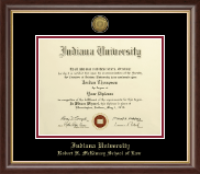 Indiana University - Purdue University Diploma Frame - Gold Engraved Medallion Diploma Frame in Hampshire