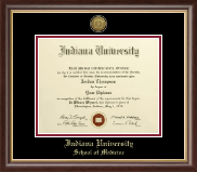 Indiana University Bloomington Diploma Frame - Gold Engraved Medallion Diploma Frame in Hampshire