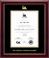 The Institute of Internal Auditors Certificate Frame - Gold Embossed Certificate Frame in Gallery