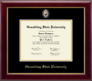 Grambling State University Diploma Frame - Masterpiece Medallion Diploma Frame in Gallery