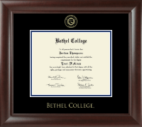 Bethel College Indiana Diploma Frame - Gold Embossed Diploma Frame in Rainier
