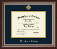 Mercyhurst College Erie Diploma Frame - Gold Engraved Medallion Diploma Frame in Hampshire
