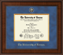 The University of Kansas Diploma Frame - Presidential Masterpiece Diploma Frame in Madison