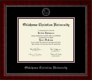 Oklahoma Christian University Diploma Frame - Silver Embossed Diploma Frame in Sutton