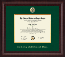William & Mary Diploma Frame - Presidential Masterpiece Diploma Frame in Premier