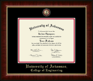 University of Arkansas Diploma Frame - Masterpiece Medallion Diploma Frame in Murano