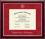 University of Arkansas Diploma Frame - Silver Embossed Diploma Frame in Gallery Silver