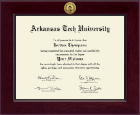 Arkansas Tech University Diploma Frame - Century Gold Engraved Diploma Frame in Cordova