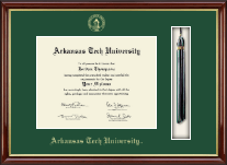 Arkansas Tech University Diploma Frame - Tassel Edition Diploma Frame in Southport Gold