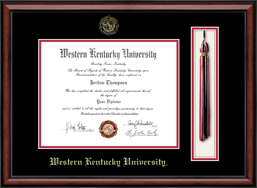 Western Kentucky University Tassel Edition Diploma Frame in ...