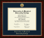 University of Maryland University College Diploma Frame - Gold Engraved Medallion Diploma Frame in Murano