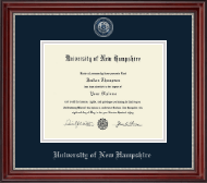 University of New Hampshire Diploma Frame - Masterpiece Medallion Diploma Frame in Kensington Silver