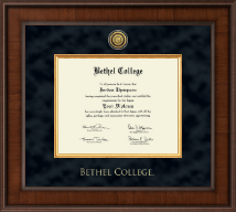 Bethel College Indiana Diploma Frame - Presidential Gold Engraved Diploma Frame in Madison
