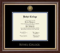 Bethel College Indiana Diploma Frame - Gold Engraved Medallion Diploma Frame in Hampshire