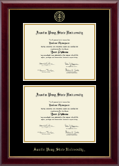 Austin Peay State University Diploma Frame - Double Document Diploma Frame in Gallery